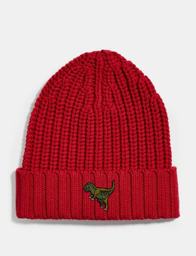 Coach Rexy Beanie Rexy Red Men Ready-to-Wear Tops & Bottoms