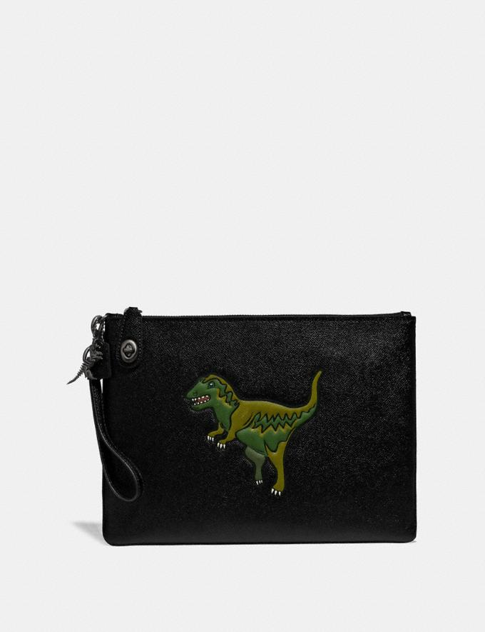 Coach Turnlock Pouch With Rexy Black New Featured Rexy Collection