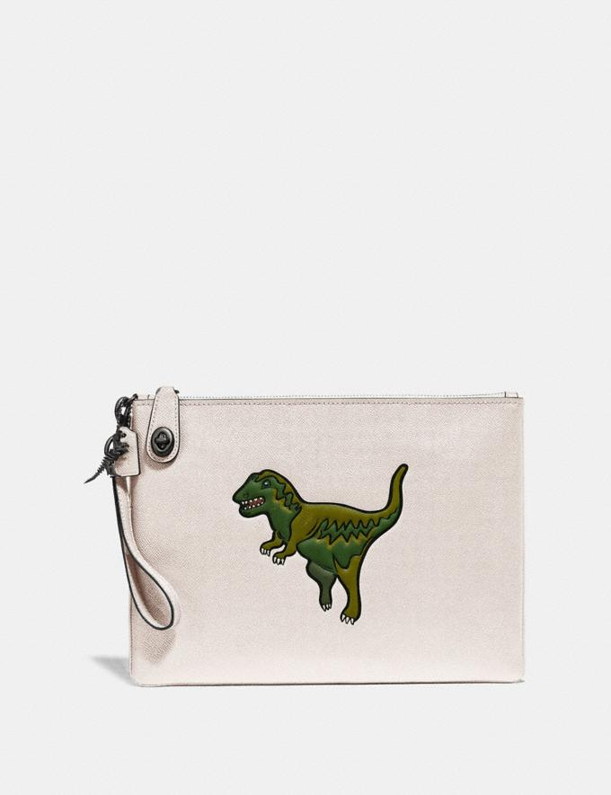 Coach Turnlock Pouch With Rexy Chalk New Men's New Arrivals Accessories