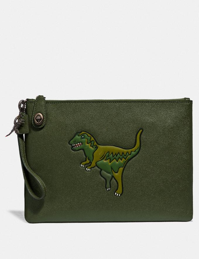 Coach Turnlock Pouch With Rexy Rexy Green New Men's New Arrivals