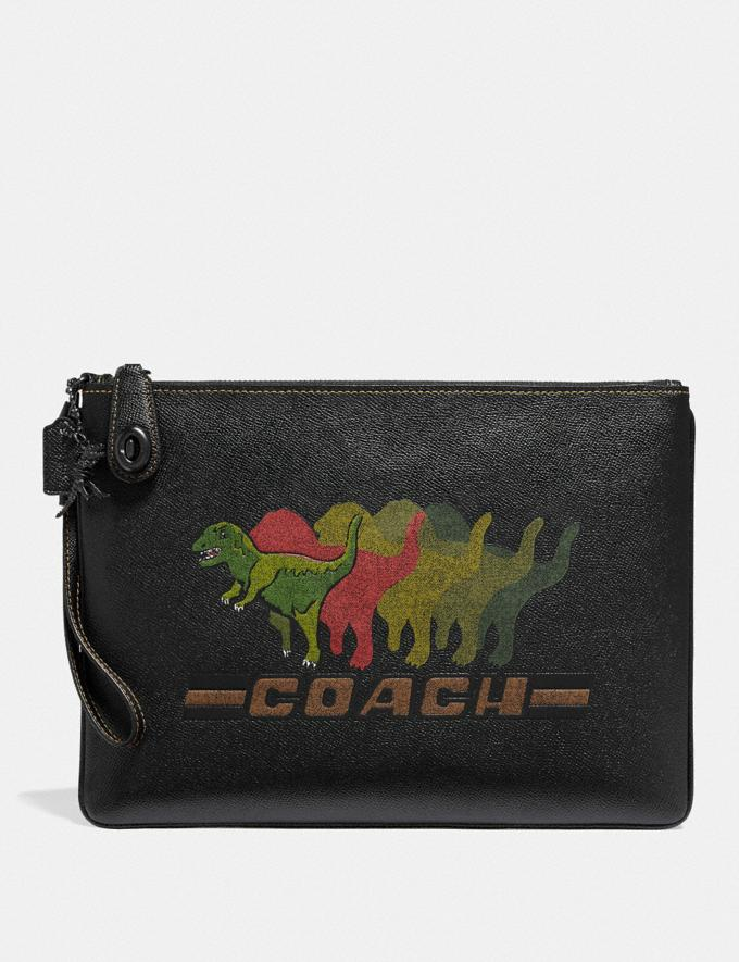 Coach Turnlock Pouch With Rexy Black Gifts For Him Bestsellers