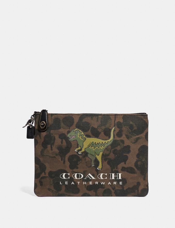 Coach Turnlock Pouch With Rexy Surplus New Featured Rexy Collection