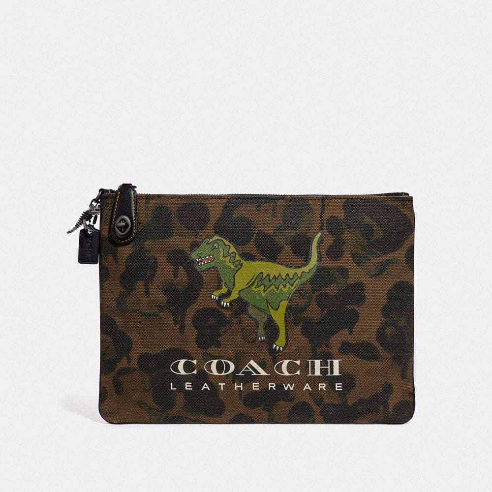 Coach TURNLOCK POUCH WITH REXY