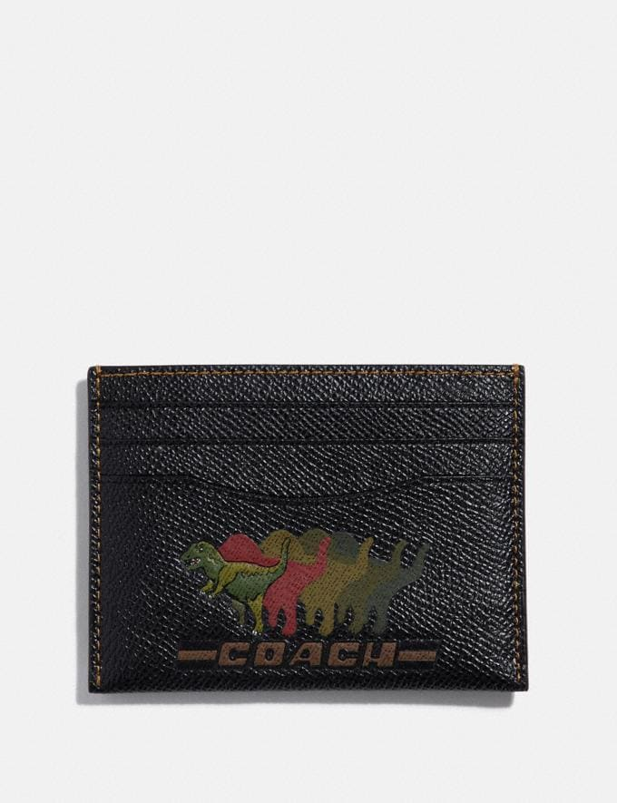 Coach Card Case With Rexy Black Men Wallets Card Cases