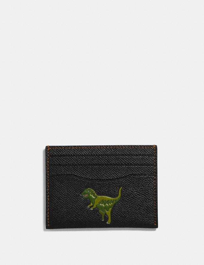 Coach Card Case With Rexy Black Men Wallets