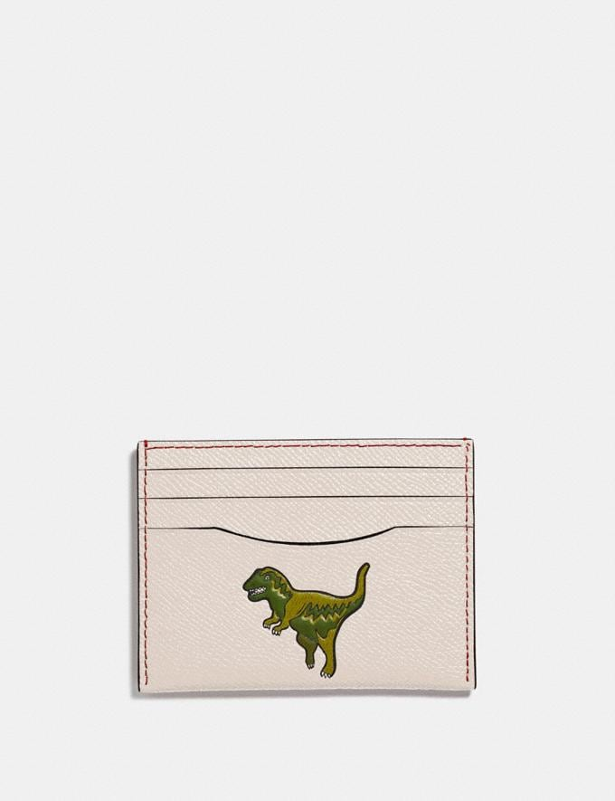 Coach Card Case With Rexy Chalk New Featured Rexy Collection