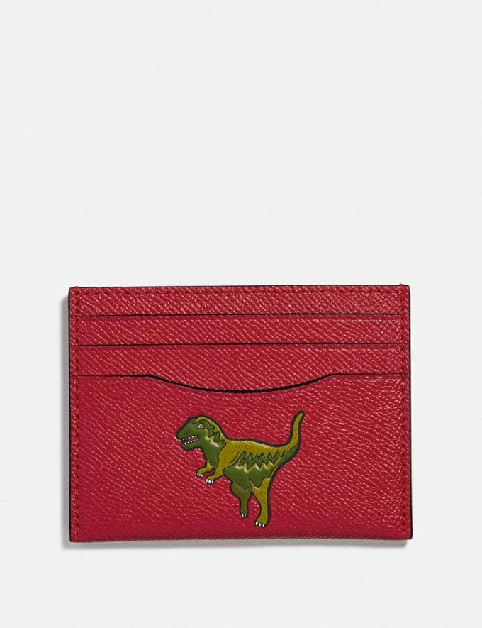 Coach Card Case With Rexy Rexy Red Women Wallets & Wristlets Small Wallets