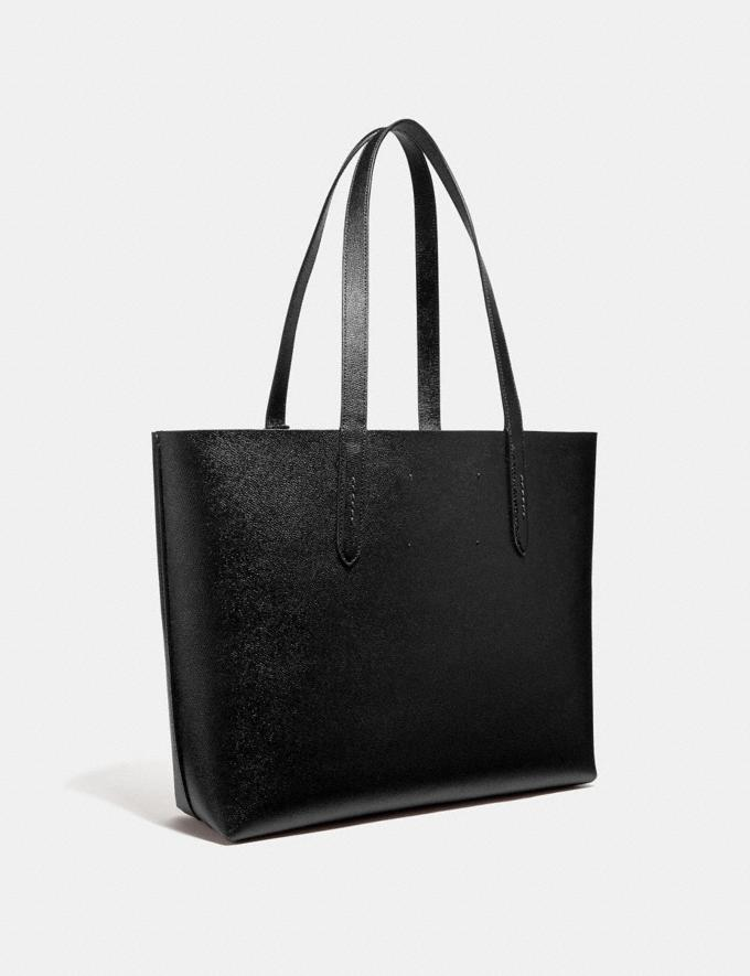 Coach Highline Tote With Rexy Black/Black Copper Personalise Personalise It Monogram For Her Alternate View 1