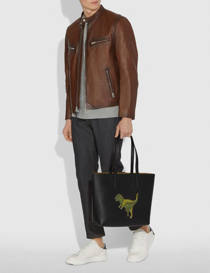 Coach Highline Tote With Rexy Black/Black Copper Personalise Personalise It Monogram For Her Alternate View 3