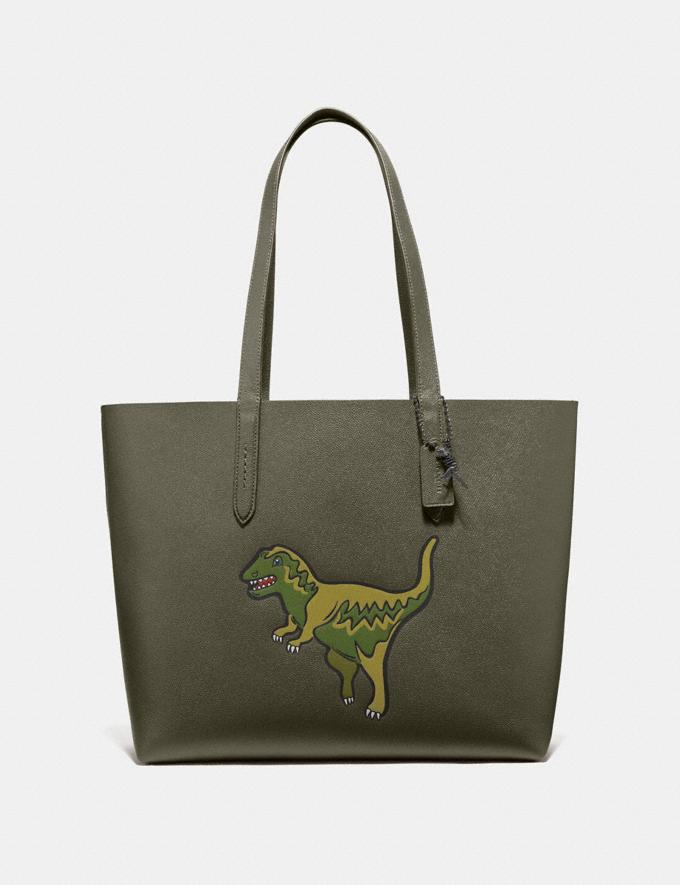 Coach Highline Tote With Rexy Rexy Green/Black Copper New Featured Rexy Collection