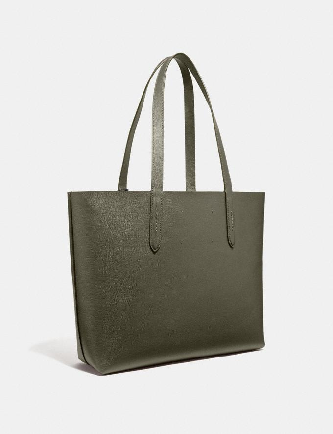 Coach Highline Tote With Rexy Rexy Green/Black Copper New Women's New Arrivals Bags Alternate View 1