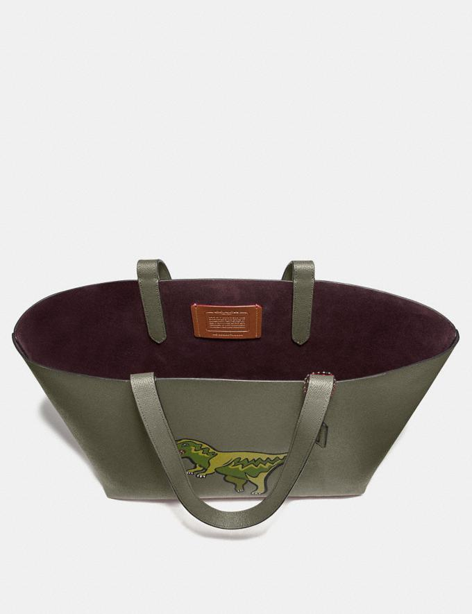 Coach Highline Tote With Rexy Rexy Green/Black Copper New Women's New Arrivals Bags Alternate View 2