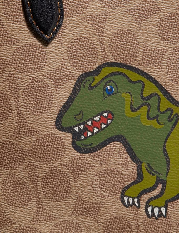 Coach Highline Tote in Signature Canvas With Rexy Khaki/Black Copper New Featured Rexy Collection Alternate View 4