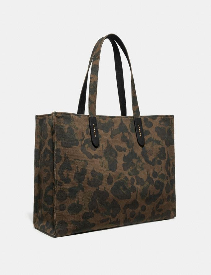 Coach Tote 42 With Rexy Military Wild Beast/Black Copper New Featured Rexy Collection Alternate View 1