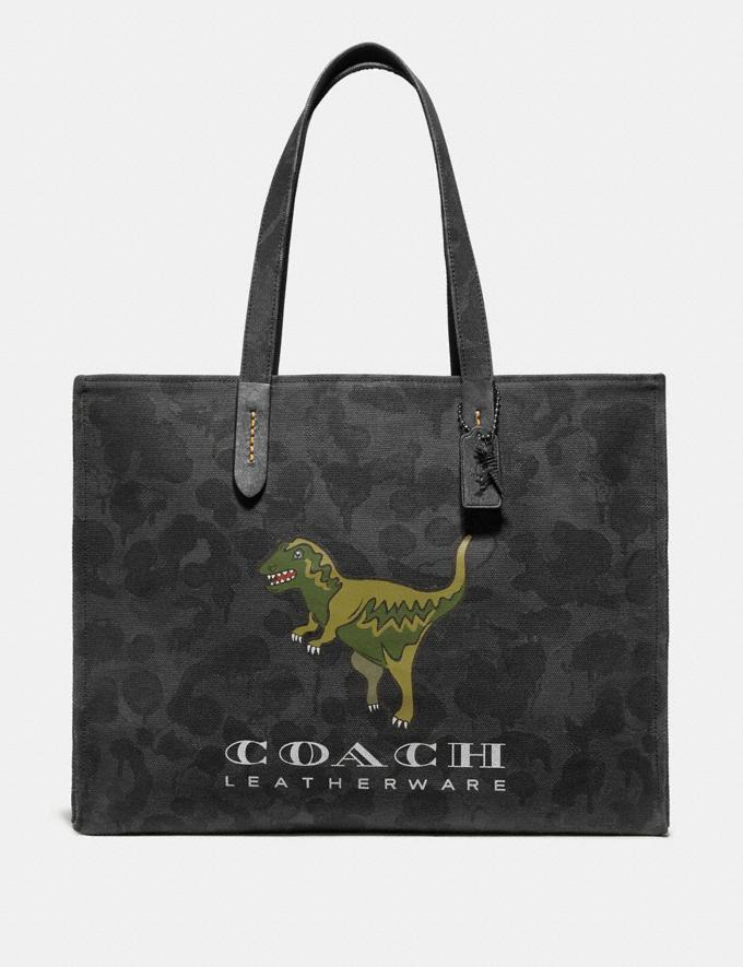 Coach Tote 42 With Rexy Graphite Wild Beast/Black Copper New Featured Rexy Collection