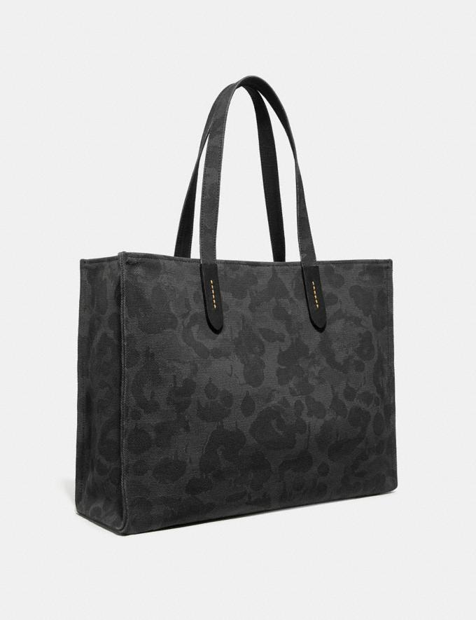 Coach Tote 42 Mit Rexy Grafit Wild Beast/Schwarzkupfer-Finish Neu Kooperationen Rexy-Kollektion Alternative Ansicht 1