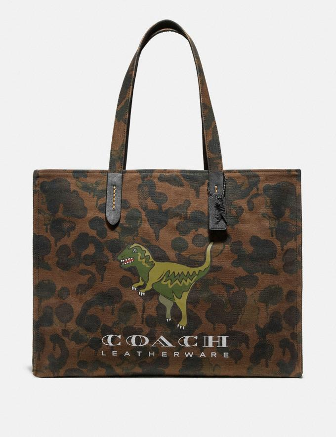 Coach Tote 42 With Rexy Military Wild Beast/Black Copper Men Bags Totes & Duffles