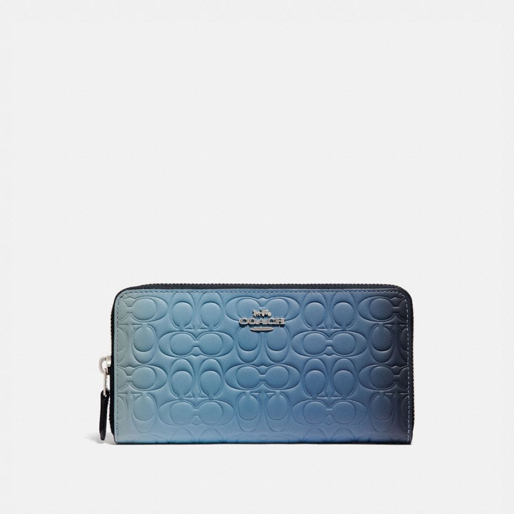 Coach Accordion Zip Wallet in Ombre Signature Leather