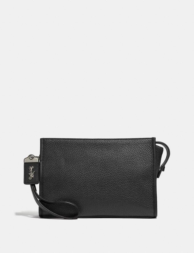 Coach Rogue Pouch Black Women Collection Rogue