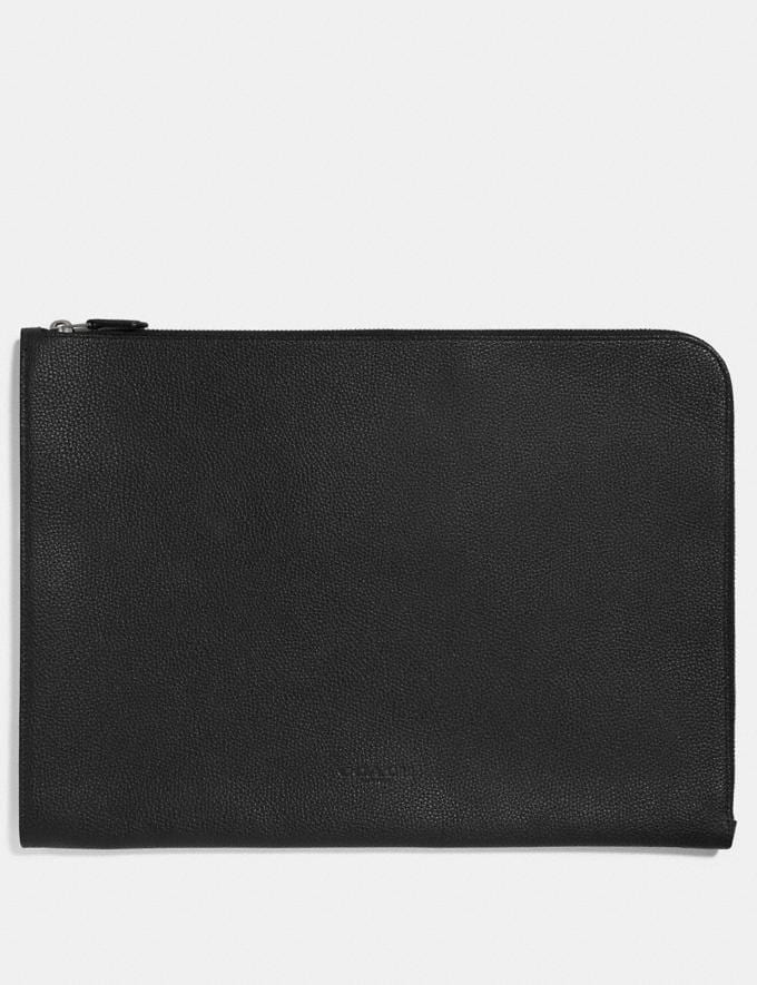Coach L-Zip Portfolio Black Men Bags Pouches