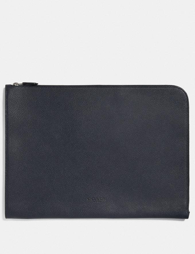 Coach L-Zip Portfolio Midnight New Men's New Arrivals Accessories
