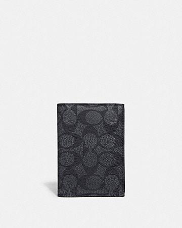 bifold card case in signature canvas