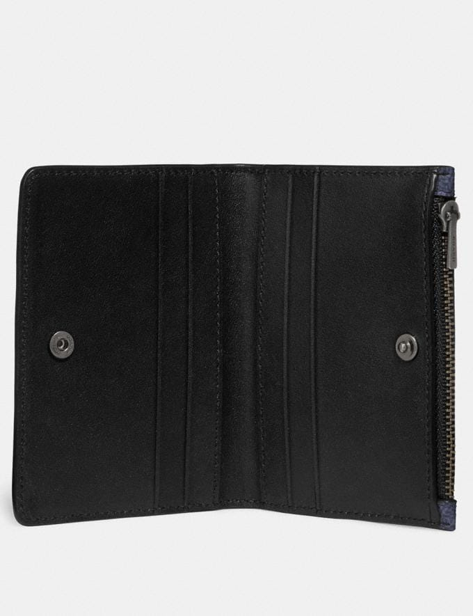 Coach Bifold Card Case in Signature Canvas Charcoal New Men's New Arrivals Wallets Alternate View 1