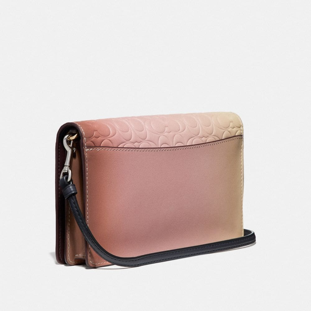 Coach Hayden Foldover Crossbody Clutch in Ombre Signature Leather Alternate View 1