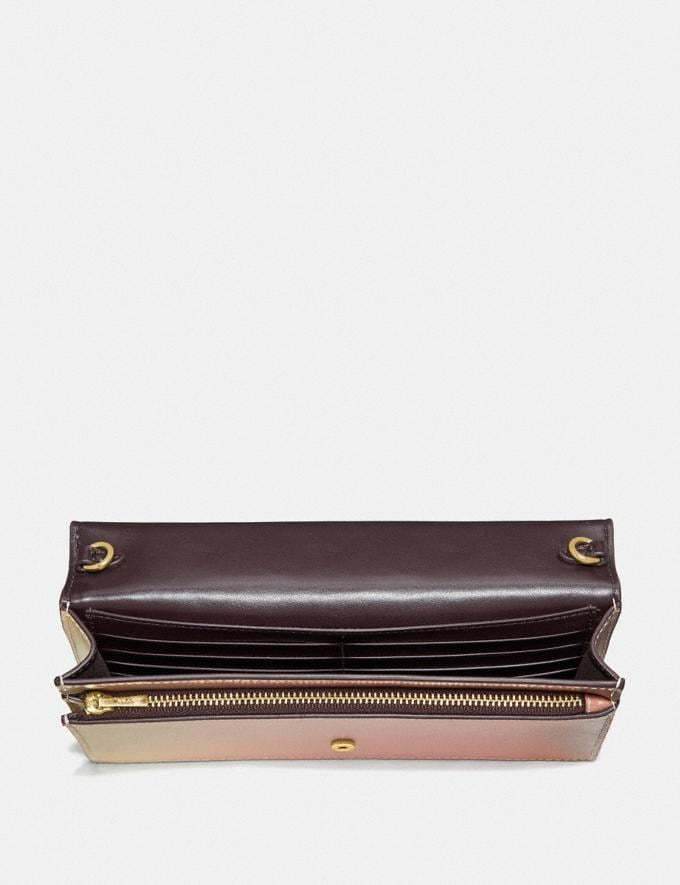 Coach Hayden Foldover Crossbody Clutch in Ombre Signature Leather Pink Multi/Gold Women Bags Crossbody Bags Alternate View 2