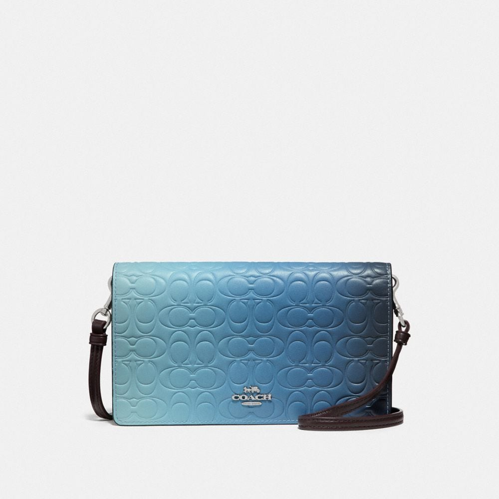 HAYDEN FOLDOVER CROSSBODY CLUTCH IN OMBRE SIGNATURE LEATHER
