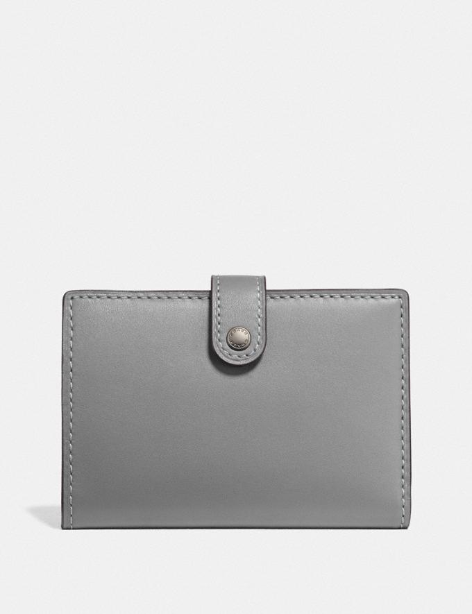 Coach Small Bifold Wallet Pewter/Heather Grey Women Wallets & Wristlets Small Wallets