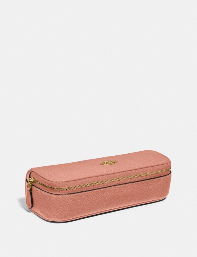 Coach Jewelry Roll Light Peach/Gold Women Accessories Cosmetic Cases