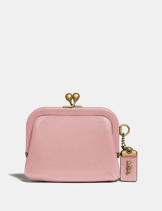 Coach Kisslock Coin Purse Blossom/Brass Women Wallets & Wristlets Small Wallets