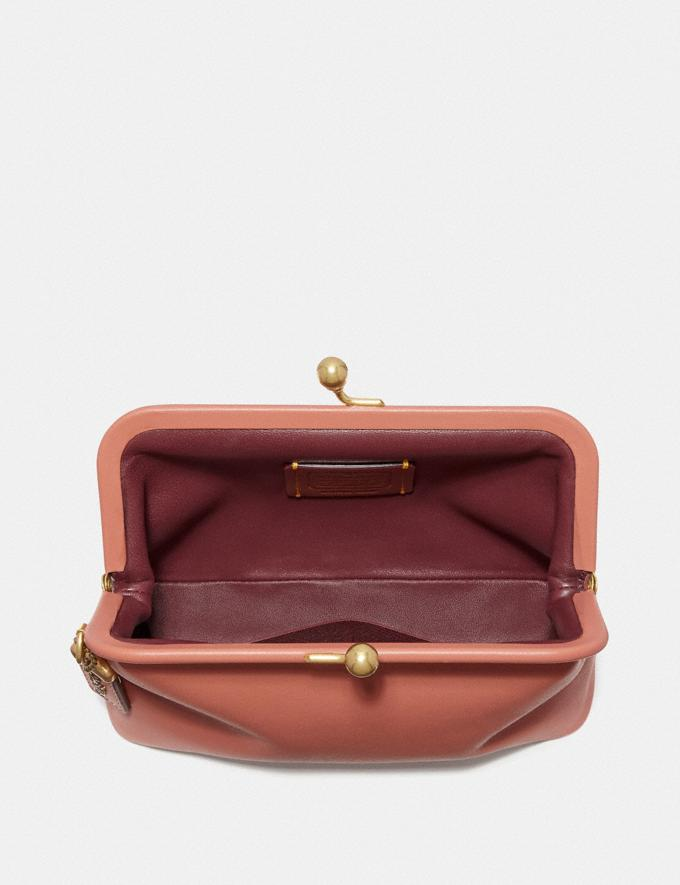 Coach Kisslock Clutch Light Peach/Brass 30% off Select Full-Price Styles Alternate View 1