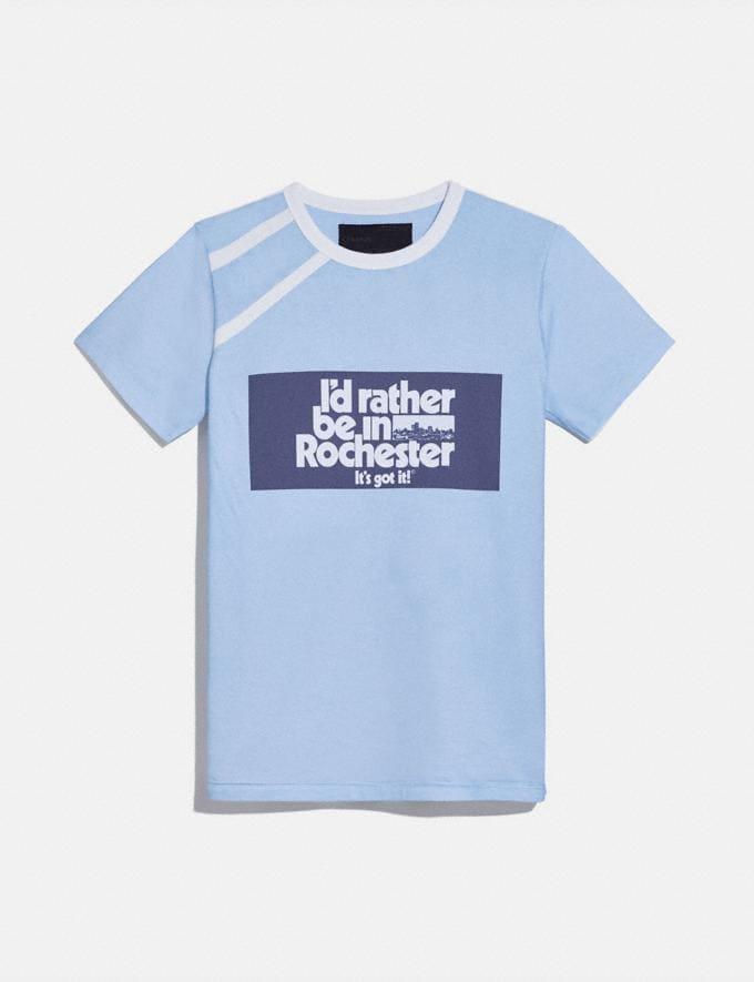 Coach T-Shirt Rochester Pour Femme Coach X Champion Bleu Clair
