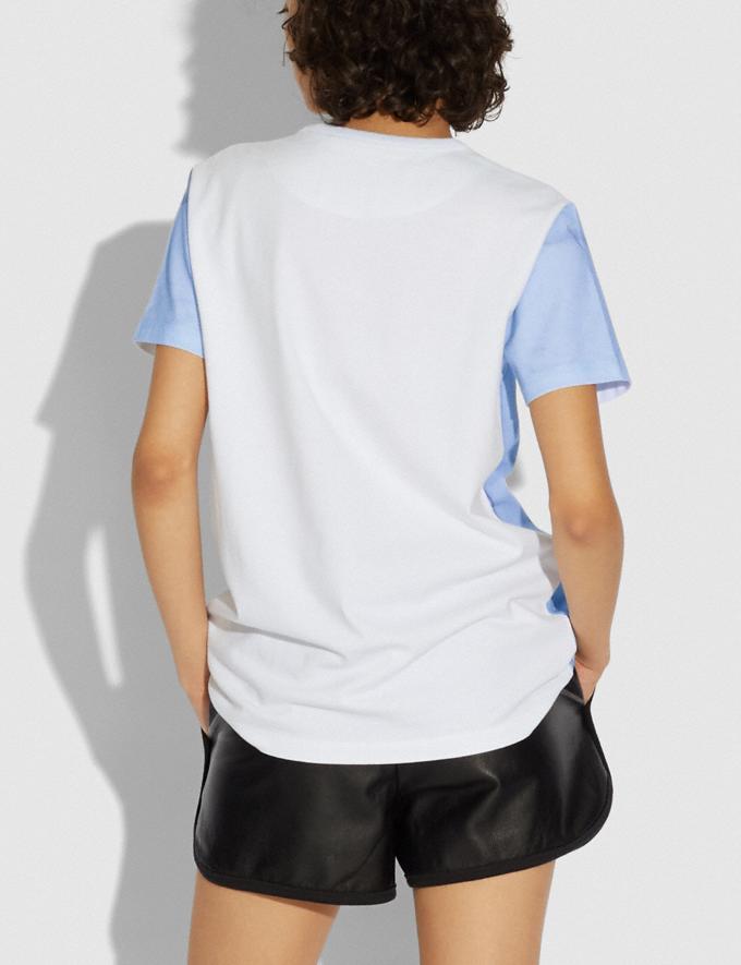 Coach T-Shirt Rochester Pour Femme Coach X Champion Bleu Clair  Autres affichages 2