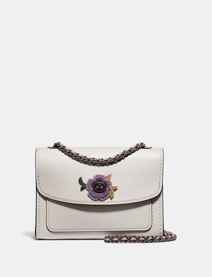 Coach Parker 18 With Tea Rose Stones Chalk/Pewter Gifts For Her