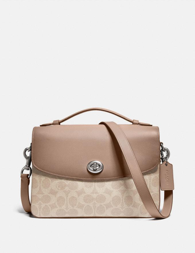 Coach Cassie Crossbody in Signature Canvas Lh/Sand Taupe New Featured Signature Styles