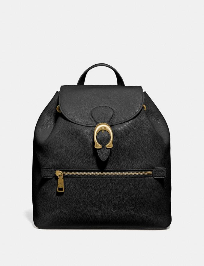 Coach Evie Backpack Black/Brass Personalise For Her Bags