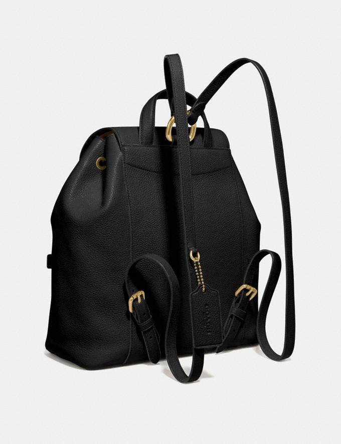 Coach Evie Backpack Black/Brass Personalise For Her Bags Alternate View 1