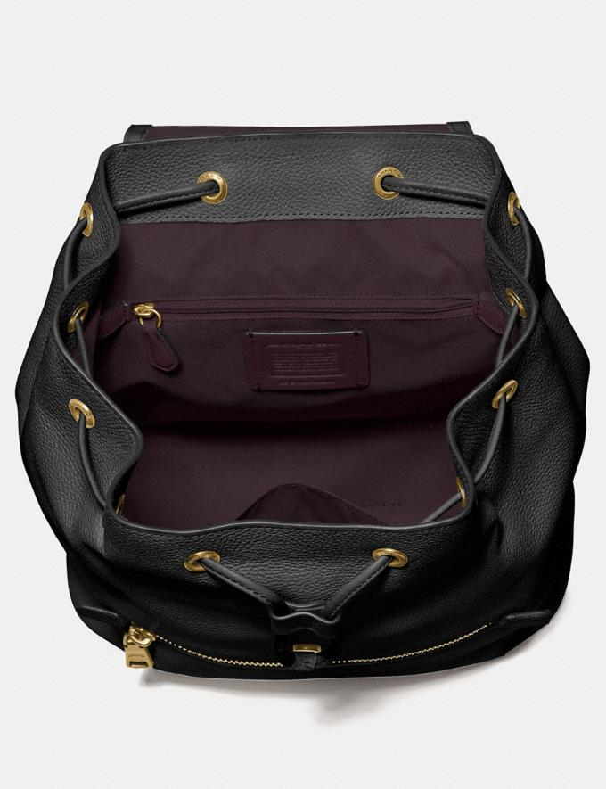 Coach Evie Backpack Black/Brass Personalise For Her Bags Alternate View 2