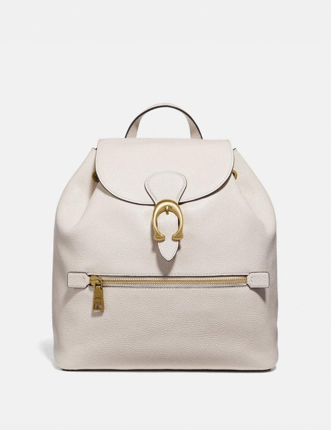 Coach Evie Backpack Chalk/Brass Women Handbags Diaper Bags