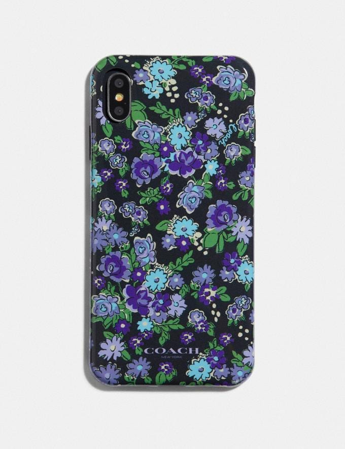 Coach iPhone Xs Max Case With Posey Cluster Print Black Multi Women Accessories Tech & Travel