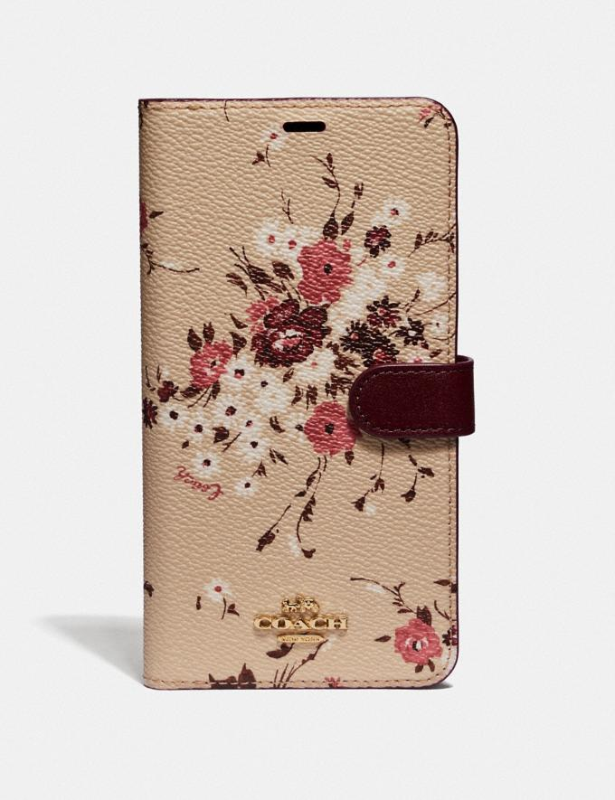 Coach iPhone Xs Max Folio With Floral Bundle Print Beechwood Multi Women Accessories Tech & Work