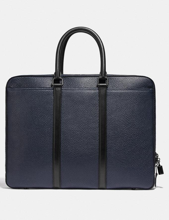 Coach Metropolitan Slim Brief Black Copper/Midnight Navy/Black Men Bags Alternate View 2