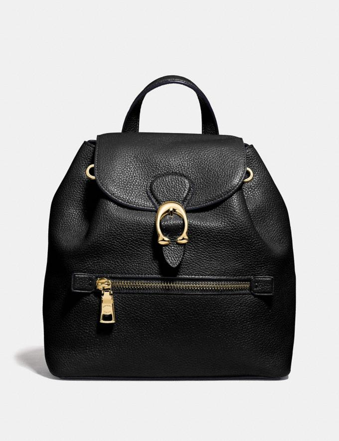 Coach Evie Backpack 22 Black/Brass Personalise For Her Bags