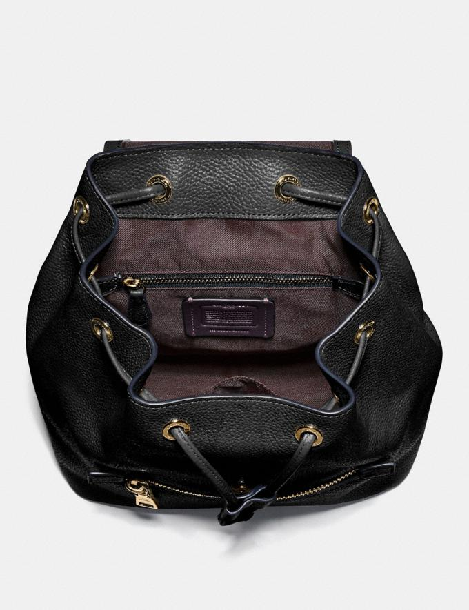 Coach Evie Backpack 22 Black/Brass New Featured Online Exclusives Alternate View 2