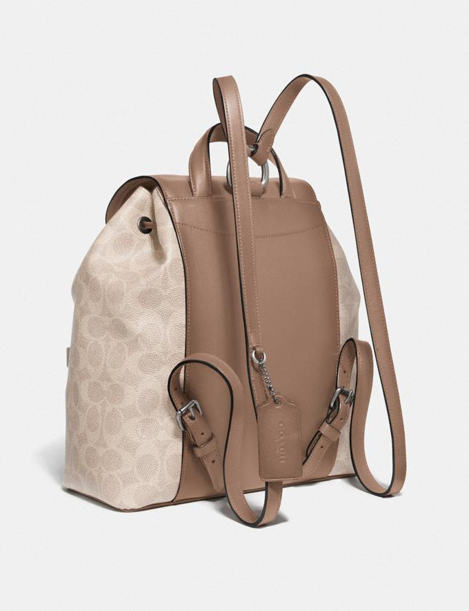 Coach Evie Backpack in Signature Canvas Lh/Sand Taupe Women Bags Backpacks Alternate View 1