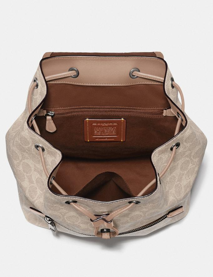Coach Evie Backpack in Signature Canvas Lh/Sand Taupe Women Bags Backpacks Alternate View 2