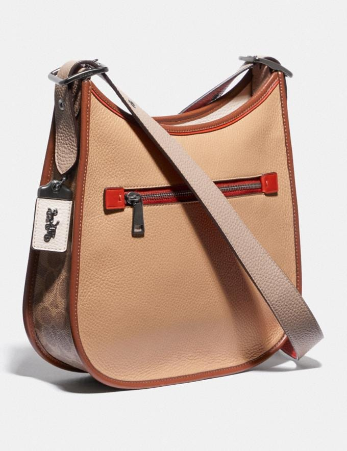 Coach Emery Crossbody in Colorblock Signature Canvas Pewter/Tan Chalk Multi Women Collection Signature Alternate View 1